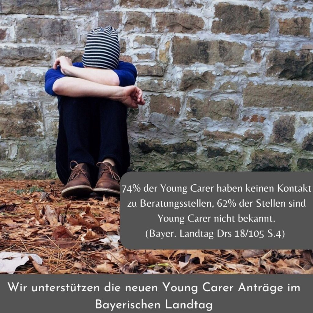Youngcarer, Kinder kranker Eltern, pflegende Angehörige, Schulsozialarbeit, Schulung, Sucht, Depression, pflegende Jugendliche